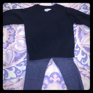 Boys children's place sweater and old navy pants
